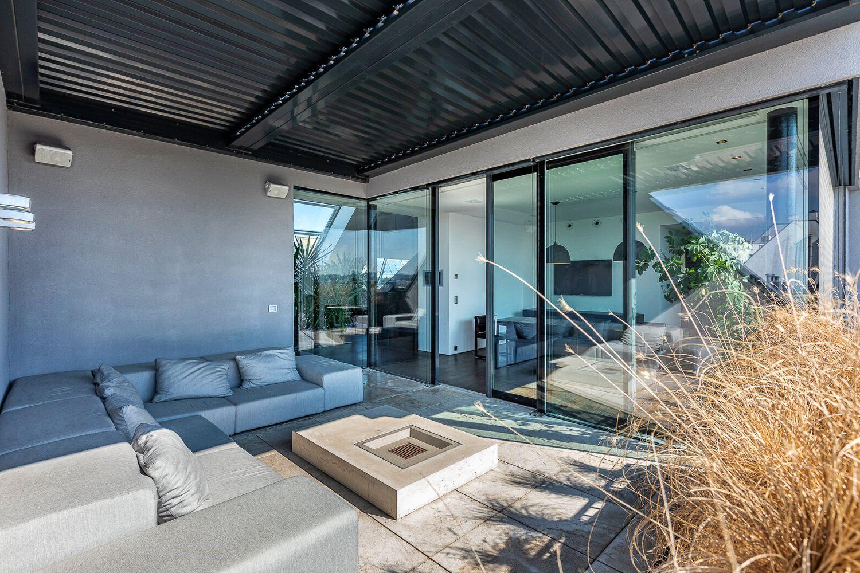 Privatsphare Pur 360m Penthouse 2 Terrassen 160m Dachterrasse Pool Whirlpool Feuerstelle Outdoorkuche Wohnkonzept