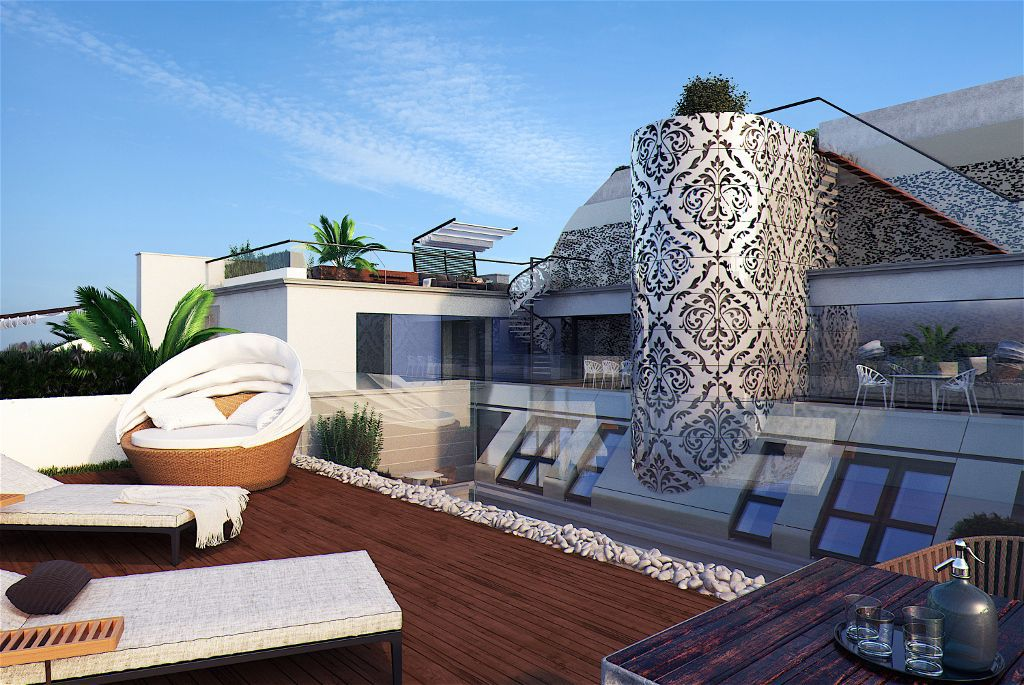 EXCLUSIVE ROOF FLOOR IN PALAIS COLIN WITH TERRACE, FITNESS AND CONCIERGE - 1090 VIENNA